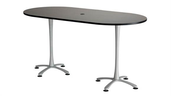 "Pub & Bistro Tables Safco Office Furniture 84""x42"", Racetrack Table,  Bistro-Height"