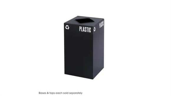 Waste Baskets Safco Office Furniture Public Square® 25-Gallon Receptacle for Plastic/Waste