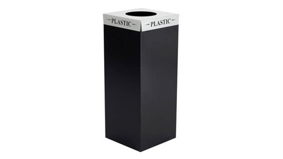 "Waste Baskets Safco Office Furniture Square-Fecta™ ""Plastic"" Lid"
