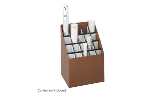 Media Storage Safco Office Furniture Upright Roll File, 20 Compartment
