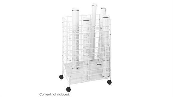 Media Storage Safco Office Furniture Wire Roll File, 24 Compartment