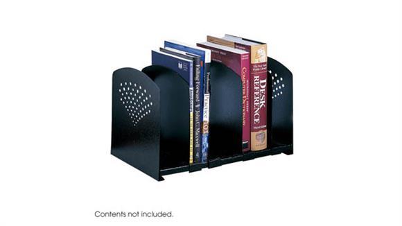 Desk Organizers Safco Office Furniture Five Section Adjustable Bookrack