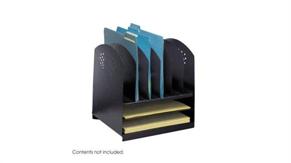 Desk Organizers Safco Office Furniture Combination Desk Rack 6 Upright and 2 Horizontal