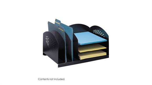 Desk Organizers Safco Office Furniture Combination Rack 3 Upright and 3 Horizontal