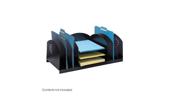 Desk Organizers Safco Office Furniture Combination Rack 6 Upright and 3 Horizontal