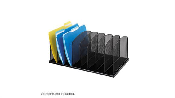 Desk Organizers Safco Office Furniture Onyx™ 8 Upright Sections