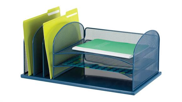 Desk Organizers Safco Office Furniture Onyx™ 3 Horizontal/3 Upright Sections