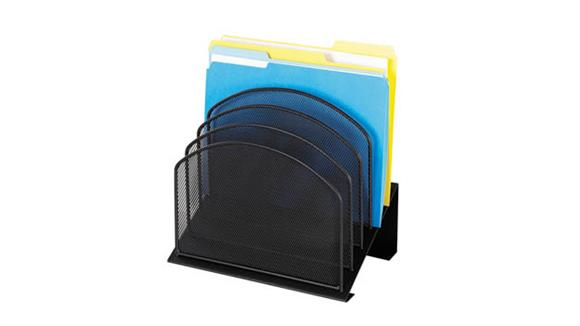 Desk Organizers Safco Office Furniture Onyx™ 5 Tiered Sections