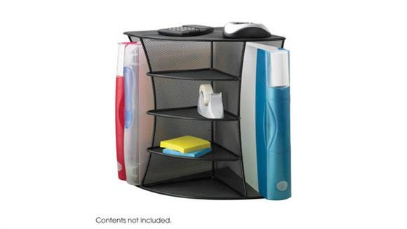 Desk Organizers Safco Office Furniture Onyx™ Mesh Desk Corner Organizer