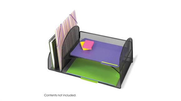 Desk Organizers Safco Office Furniture Onyx™ Two Upright/Two Horizontal Sections