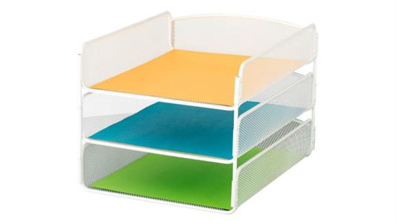 Desk Organizers Safco Office Furniture Onyx™ Triple Tray