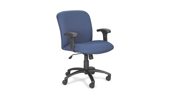 Big & Tall Safco Office Furniture Big and Tall Mid Back Chair with Arms