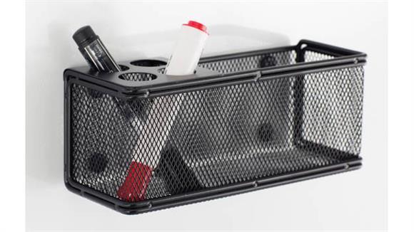 Desk Organizers Safco Office Furniture Onyx™ Mesh Marker Organizer with Basket