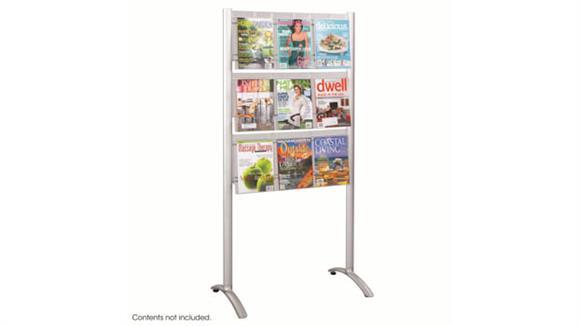 Magazine & Literature Storage Safco Office Furniture Luxe™ Magazine Floor Rack - 9 pocket
