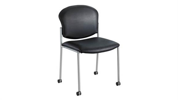 Side & Guest Chairs Safco Office Furniture Diaz™ Guest Chair - Black Vinyl