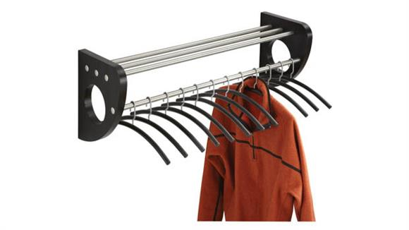 Coat Racks & Hall Trees Safco Office Furniture Wall Coat Rack with Hangers