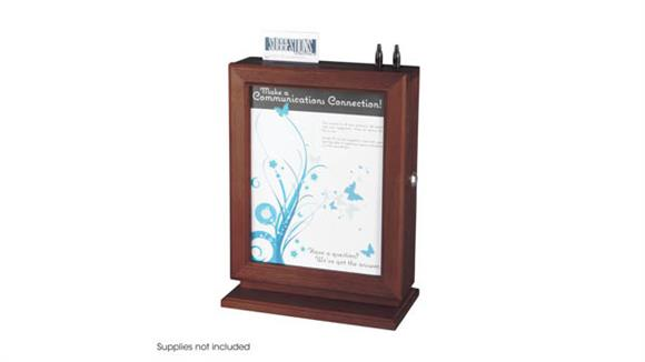 Office Organizers Safco Office Furniture Customizable Wood Suggestion Box