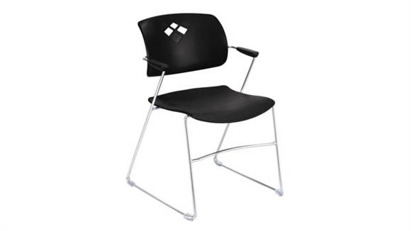 Stacking Chairs Safco Office Furniture Veer™ Flex Frame Stacking Chair (Qty. 4)