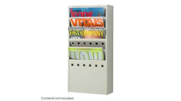 Magazine & Literature Storage Safco Office Furniture 5-Pocket Steel Magazine Rack