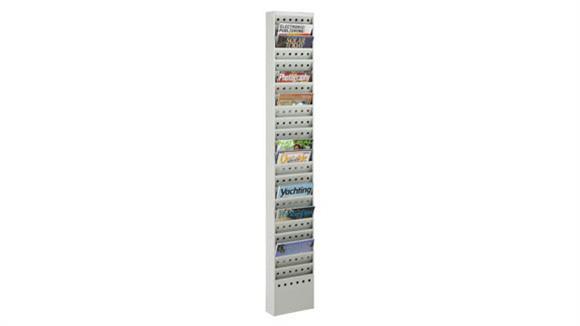 Magazine & Literature Storage Safco Office Furniture 23-Pocket Steel Magazine Rack
