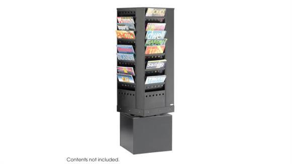 Magazine & Literature Storage Safco Office Furniture 44-Pocket Steel Rotary Magazine Rack