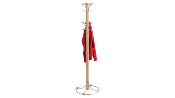 Coat Racks & Hall Trees Safco Office Furniture Bamboo Coat Rack
