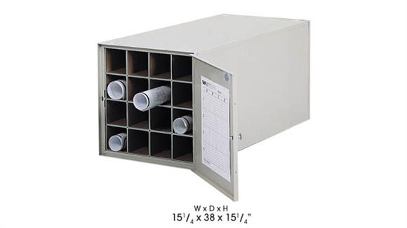 "Media Storage Safco Office Furniture 38""D Steel Roll File, 16 Tube"
