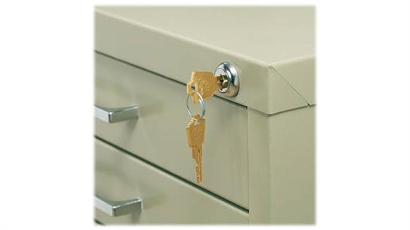 Flat File Cabinets Safco Office Furniture Lock Kit for 5-Drawer Files