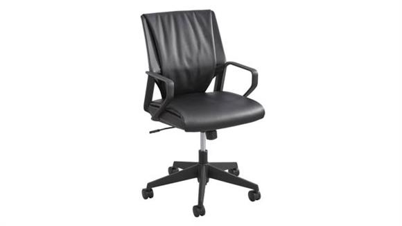Office Chairs Safco Office Furniture Priya™ Leather Mid Back Executive Chair