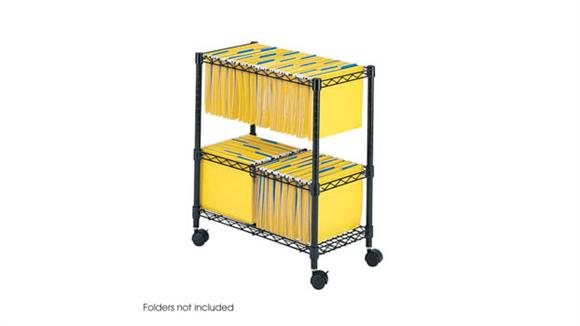 Mobile File Cabinets Safco Office Furniture 2 Tier Rolling File Cart