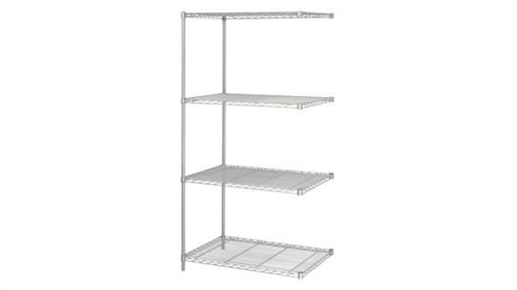 """Shelving Safco Office Furniture Industrial Add-On Unit, 24"""" x 36"""""""