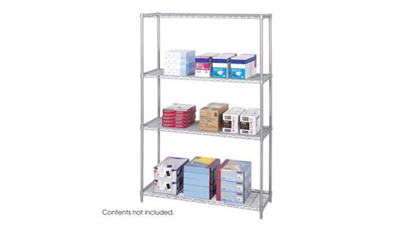 """Shelving Safco Office Furniture Industrial Wire Shelving, 48"""" x 18"""""""