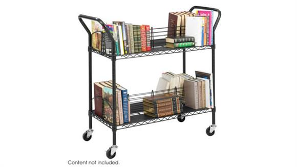 Book & Library Carts Safco Office Furniture Wire Book Cart