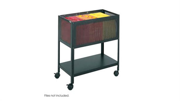 Mobile File Cabinets Safco Office Furniture Mesh Open Top Tub File