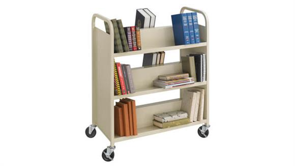 Book & Library Carts Safco Office Furniture Steel Double-Sided Book Cart