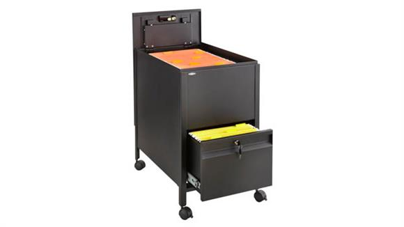 Mobile File Cabinets Safco Office Furniture Letter Size Mobile Steel Tub File with Lock and File Drawer