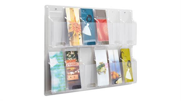 Magazine & Literature Storage Safco Office Furniture 12 Pamphlet Display