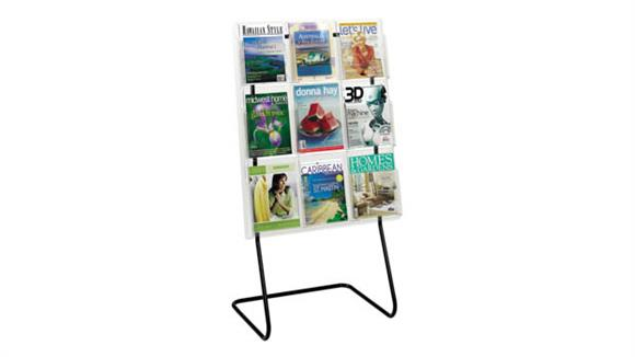 Magazine & Literature Storage Safco Office Furniture 9 Magazine Display with Floor Stand