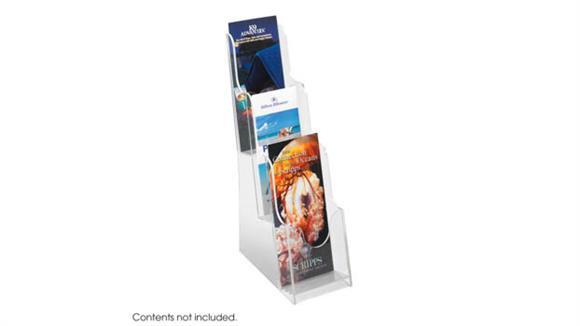 Magazine & Literature Storage Safco Office Furniture Acrylic 3 Pocket Pamphlet Display
