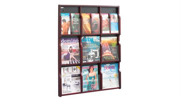 Magazine & Literature Storage Safco Office Furniture Expose™ 9 Magazine 18 Pamphlet Display