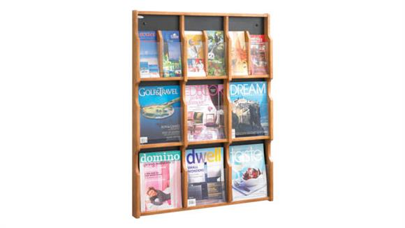 Magazine & Literature Storage Safco Office Furniture Expose™ 9 Magazine 18 Pamphlet Display