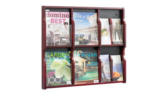 Magazine & Literature Storage Safco Office Furniture Expose™ 6 Magazine 12 Pamphlet Display