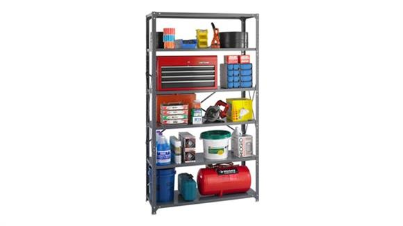 """Shelving Safco Office Furniture 48""""W x 18""""D x 85""""H Industrial Steel Shelving"""