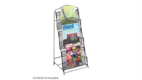 Magazine & Literature Storage Safco Office Furniture Onyx™ Floor Rack 3 Pocket