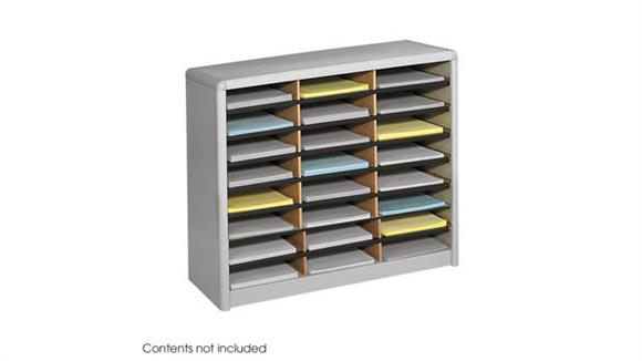 Magazine & Literature Storage Safco Office Furniture 24 Compartment Literature Sorter
