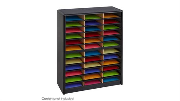 Magazine & Literature Storage Safco Office Furniture 36 Compartment Literature Sorter