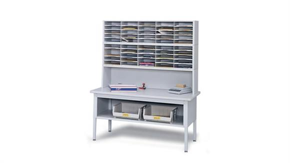 Mail Sorters Safco Office Furniture Mailroom Sorting Table and Organizer