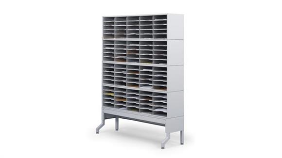Mail Sorters Safco Office Furniture 4 Tier Mail Sorter Station