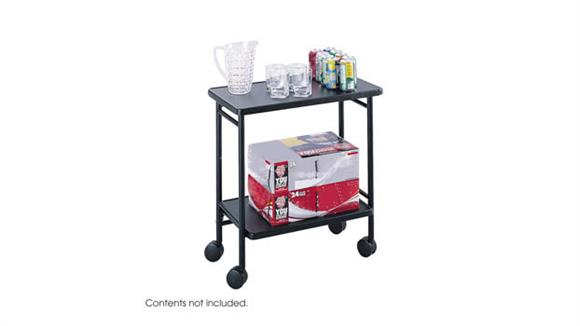 Hospitality Carts Safco Office Furniture Mobile Folding Office/Beverage Cart
