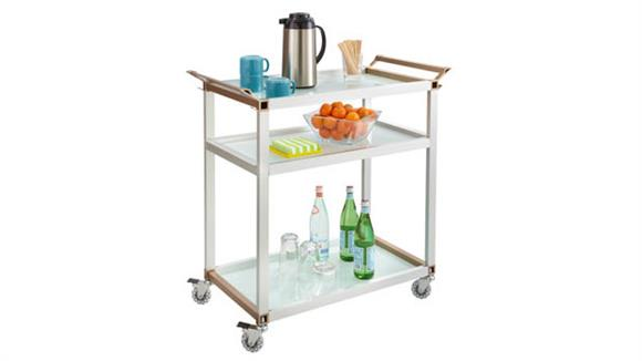 Hospitality Carts Safco Office Furniture Large Refreshment Cart